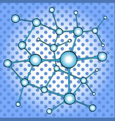 science background with molecule or atom pop art vector image