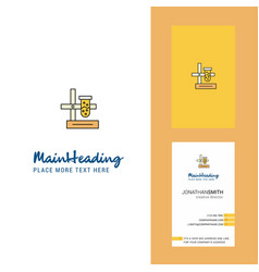 Science lab creative logo and business card vector