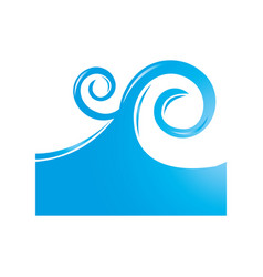 sea wave isolated icon vector image