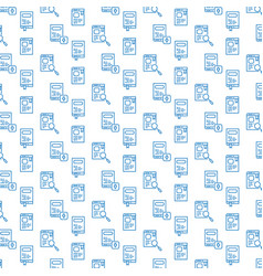 seamless icon pattern book and e-book design vector image