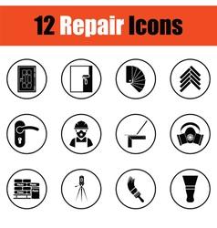 Set of flat repair icons vector image