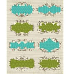 Set of special labels and banners vector