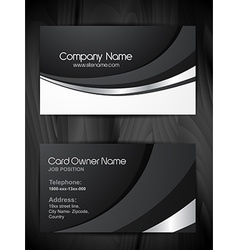 shiny business card template vector image