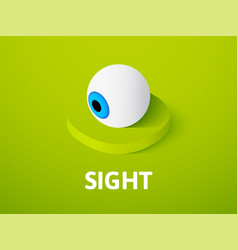 sight isometric icon isolated on color background vector image