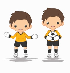 Soccer goalkeeper vector