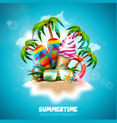 summertime holiday with ice vector image