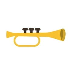 Trumpet instrument musical icon vector