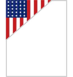 usa flag corner border vector image