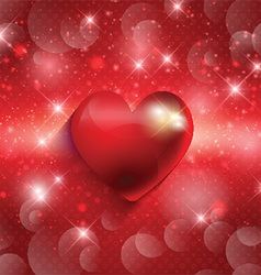 valentines heart background 1612 vector image