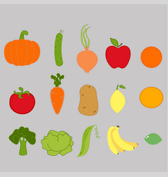 Vegetable and fruits vector