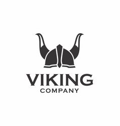 Viking helmet logo design vector