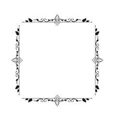 vintage elegant contour frame with rhombus squares vector image