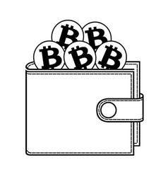 Wallet of bitcoin vector