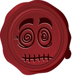 Wax seal Smiley 13 vector