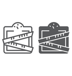 weight scale line and glyph icon weighing and vector image