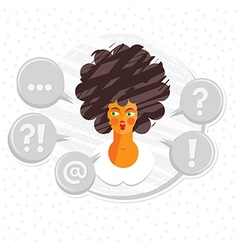 Woman making decisions vector
