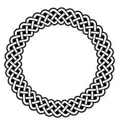 Celtic round frame border pattern - vector image