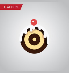 isolated dessert flat icon pastry element vector image vector image
