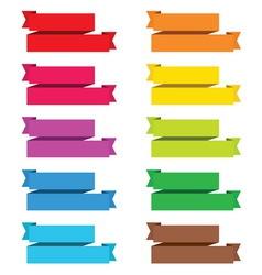 Popular color pack ribbon paper vintage label bann vector
