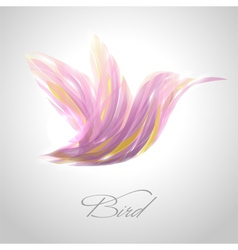 Shiny lavender flying hummingbird vector image vector image