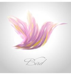 Shiny lavender flying hummingbird vector image