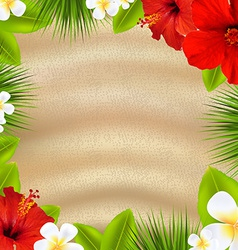 Tropical Poster With Flowers vector image vector image