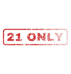 21 only rubber stamp vector image