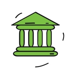 bank icon isolated on white background Cartoon vector image vector image