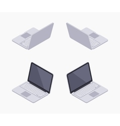 Isometric silver laptop vector image