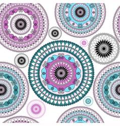 Vintage seamless white pattern vector image