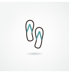 Water shoes icon vector image vector image