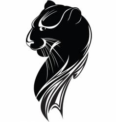black panther vector image vector image