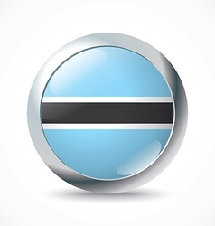 Botswana flag button vector image vector image