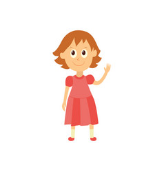 flat cartoon girl pupil isolated vector image