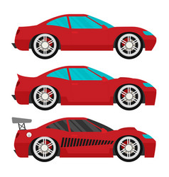 flat racing car set eps 10 vector image