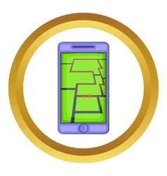Mobile phone with sport app icon vector image