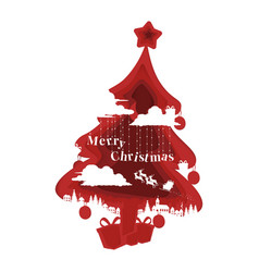 79 - christmas tree background vector image