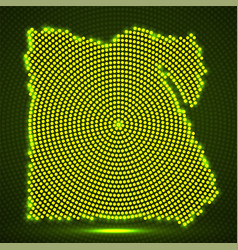 abstract egypt map of glowing radial dots vector image