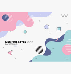 Abstract freeform shape geometric pastel color vector