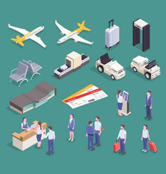 airport essential elements collection vector image