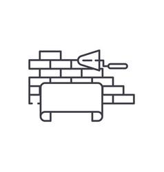 Architectural supervision line icon concept vector