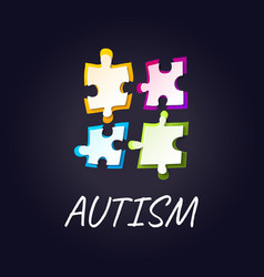 autism awareness puzzle poster vector image