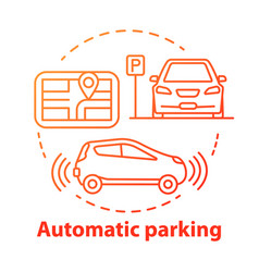 Automatic parking concept icon driverless car vector