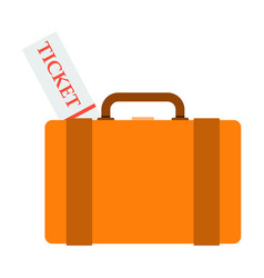 Backpack ticket for camping tourism cartoon vector
