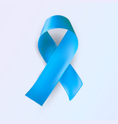 Blue ribbon abstract medical symbol world vector