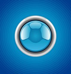Blue round button vector