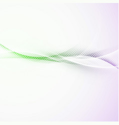 Bright dotted abstract swoosh wave border vector