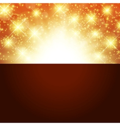 bright golden background vector image