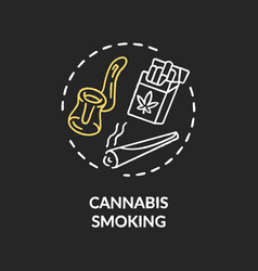 Cannabis smoking chalk rgb color concept icon vector
