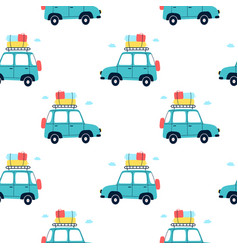 car for t-shirt design vector image